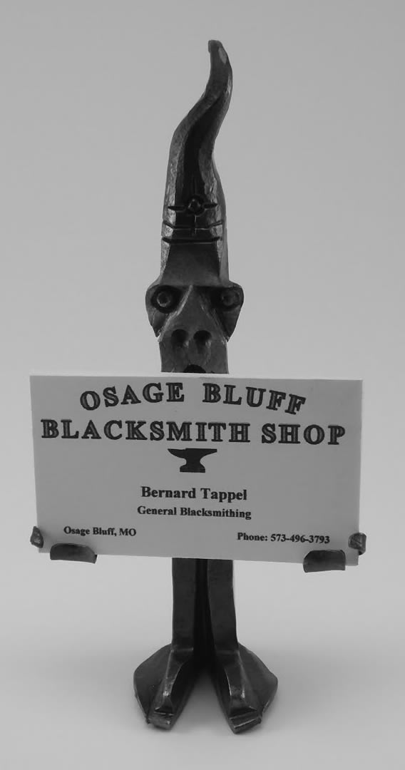 railroad spike business card holder from Osage Bluff Blacksmith
