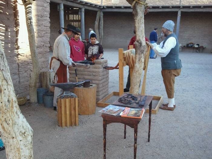 Blacksmithing at the Tucson Presidio