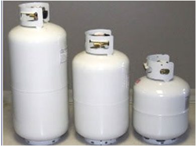 normal portable propane tanks